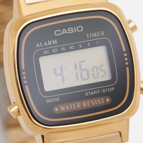 Наручные часы CASIO Collection Retro LA670WEGA-1E Gold/Black