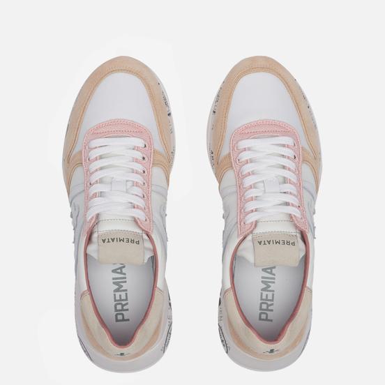 Женские кроссовки Premiata Layla 5218 White/Peach