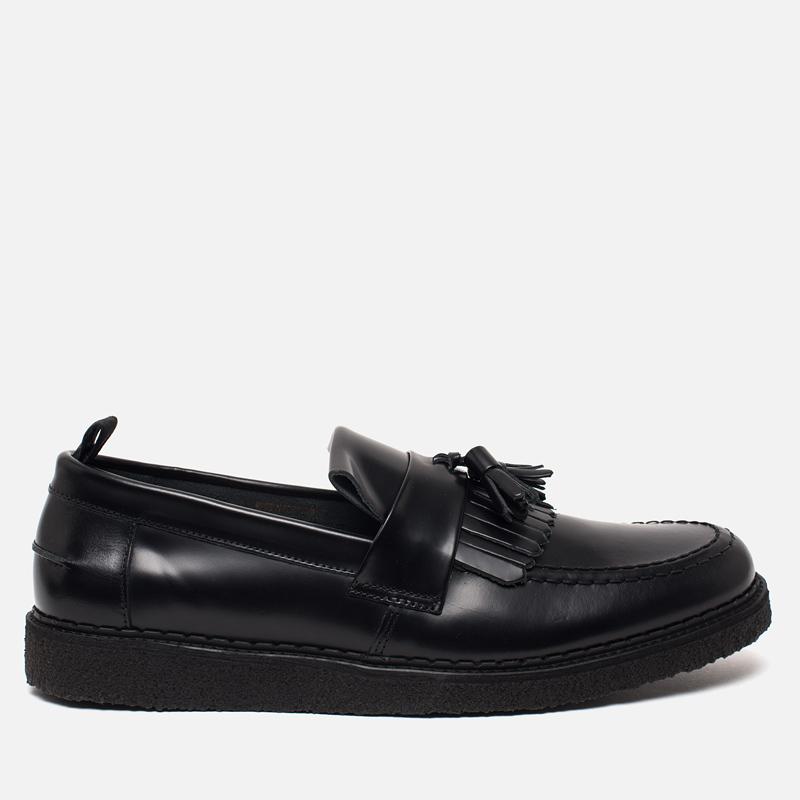 Ботинки лоферы Fred Perry x George Cox Tassel Leather Black