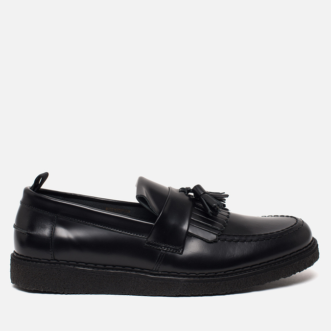 Мужские ботинки лоферы Fred Perry x George Cox Tassel Leather Black