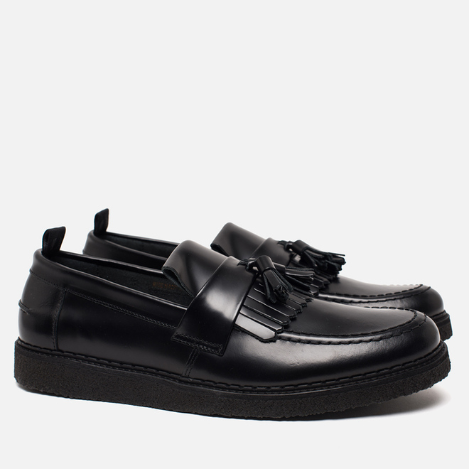 Ботинки лоферы Fred Perry x George Cox Tassel Leather Black