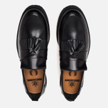 Мужские ботинки лоферы Fred Perry x George Cox Tassel Leather Black фото- 4