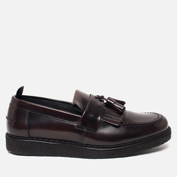 Ботинки лоферы Fred Perry x George Cox Tassel Leather Ox Blood