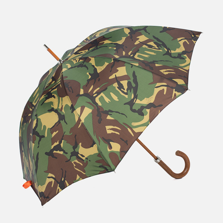 Зонт-трость London Undercover City Gent Camouflage Malacca Handle British Woodland