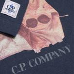 Детский лонгслив C.P. Company U16 Jersey Goggle Hood Print Navy фото- 2