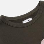 Детский лонгслив C.P. Company U16 Jersey Goggle Hood Print Olive фото- 1