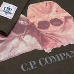 Детский лонгслив C.P. Company U16 Jersey Goggle Hood Print Olive фото- 2