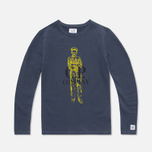 C.P. Company U16 Jersey Logo Print Children's Longsleeve Navy photo- 0