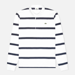 Мужской лонгслив Lacoste Herringbone Stripe Regular Fit White/Navy Blue фото- 0