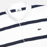 Мужской лонгслив Lacoste Herringbone Stripe Regular Fit White/Navy Blue фото- 1