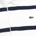 Мужской лонгслив Lacoste Herringbone Stripe Regular Fit White/Navy Blue фото- 2
