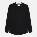 Мужской лонгслив Norse Projects Aske Perforated Jersey Black фото- 0