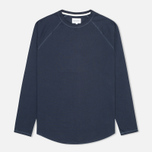 Мужской лонгслив Norse Projects Aske Perforated Jersey Navy фото- 0