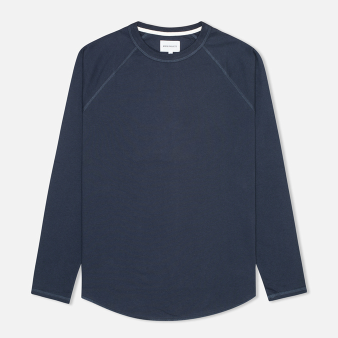 Мужской лонгслив Norse Projects Aske Perforated Jersey Navy