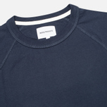 Мужской лонгслив Norse Projects Aske Perforated Jersey Navy фото- 1