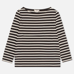 Женский лонгслив YMC Breton Stripe Black/Cream фото- 0