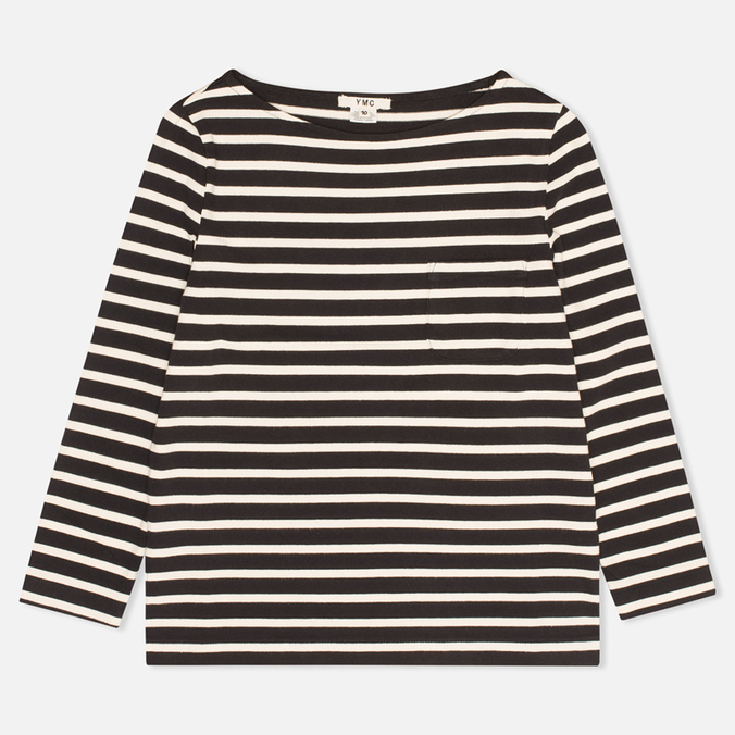 Женский лонгслив YMC Breton Stripe Black/Cream