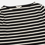 Женский лонгслив YMC Breton Stripe Black/Cream фото- 1