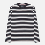 Мужской лонгслив Fred Perry Breton Stripe Navy/White фото- 0