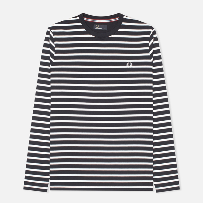 Мужской лонгслив Fred Perry Breton Stripe Navy/White