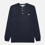 Мужской лонгслив Maison Kitsune Tee Long Sleeves Navy фото- 0