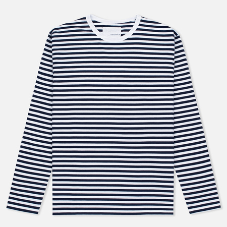 Мужской лонгслив Nanamica Coolmax St. Jersey Navy/White