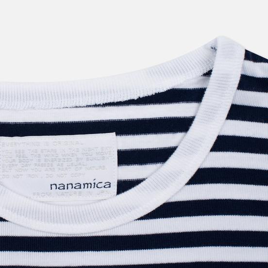 Мужской лонгслив Nanamica Coolmax St. Jersey Navy/White