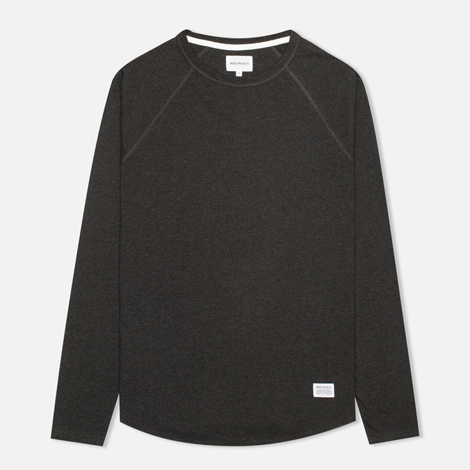 Мужской лонгслив Norse Projects Aske Perforated Charcoal Melange