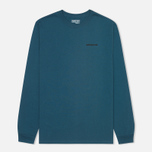 Мужской лонгслив Patagonia P-6 Logo Cotton Crater Blue фото- 0
