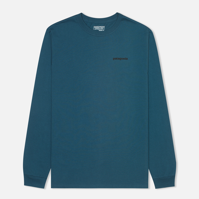 Мужской лонгслив Patagonia P-6 Logo Cotton Crater Blue
