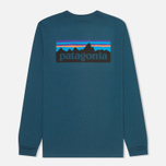 Мужской лонгслив Patagonia P-6 Logo Cotton Crater Blue фото- 1