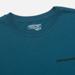 Мужской лонгслив Patagonia P-6 Logo Cotton Crater Blue фото- 2