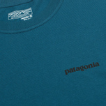 Мужской лонгслив Patagonia P-6 Logo Cotton Crater Blue фото- 3