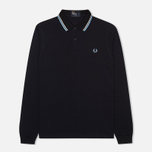 Мужской лонгслив Fred Perry Tipped Polo Navy/Ecru фото- 0