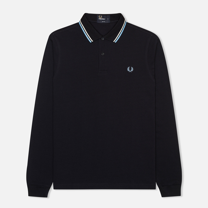 Мужской лонгслив Fred Perry Tipped Polo Navy/Ecru