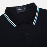 Мужской лонгслив Fred Perry Tipped Polo Navy/Ecru фото- 1