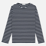 Armor-Lux Lesconil Genuine Breton Women's Longsleeve Rich Navy/Blanc photo- 0