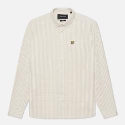 Мужская рубашка Lyle & Scott LS Slim Fit Gingham White/Sesame