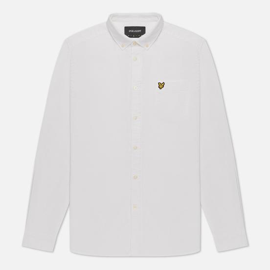Мужская рубашка Lyle & Scott Regular Fit Light Weight Oxford White