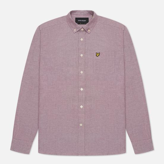Мужская рубашка Lyle & Scott Regular Fit Light Weight Oxford Merlot/White