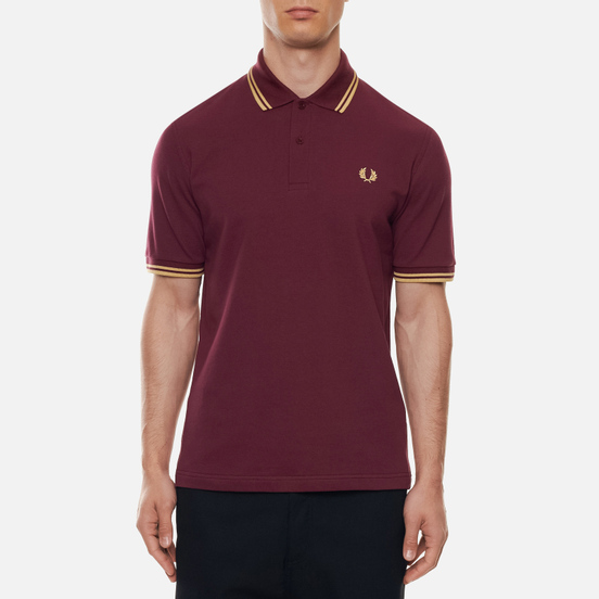 Мужское поло Fred Perry M12 Aubergine/Champagne