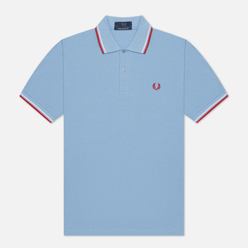 Мужское поло Fred Perry M12 Sky/White/Bright Red