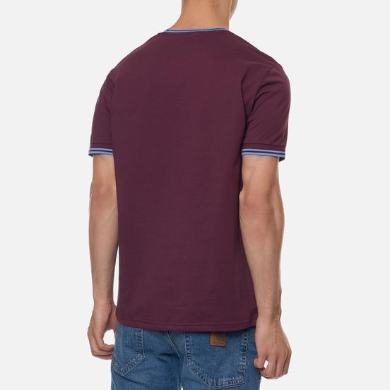 Мужская футболка Fred Perry Twin Tipped Mahogany