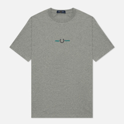 Мужская футболка Fred Perry Embroidered Steel Marl