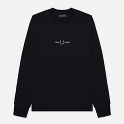 Мужская толстовка Fred Perry Embroidered Logo Black