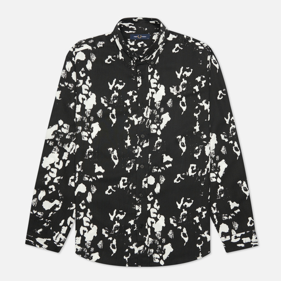Мужская рубашка Fred Perry Monochrome Abstract Black