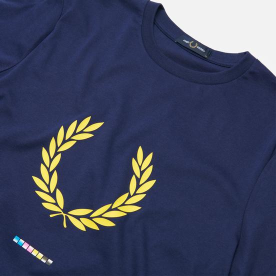 Мужская футболка Fred Perry Print Registration French Navy
