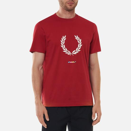 Мужская футболка Fred Perry Print Registration Blood