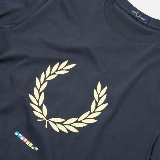 Мужская футболка Fred Perry Print Registration Dark Airforce