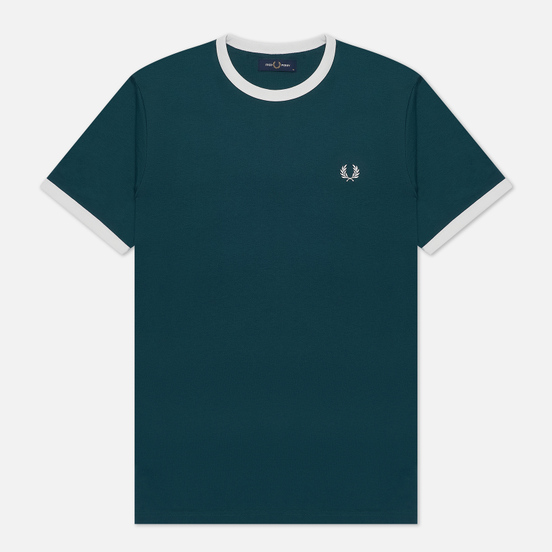 Мужская футболка Fred Perry Ringer Petrol Blue